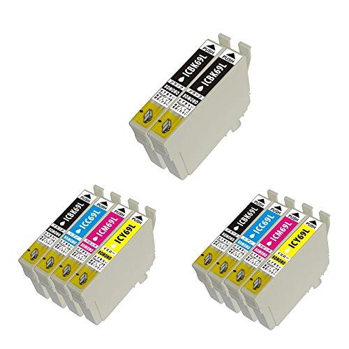 【블랙 증량판】IC4CL69×2세트+ICBK69L 2개 하이 그레이드 타입 4색×2세트+BKL2개 EPSON 엡손 호환 잉크 잔양표시 가능 대응 기종:PX-045A PX-046A PX-105 PX-405A PX-435A PX-436A PX-505F PX-535F