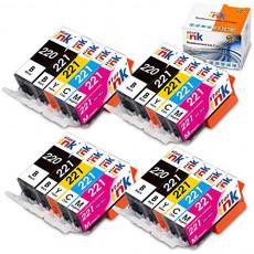 Starink Compatible Ink Cartridge Replacement for Canon PGI-220 CLI-221 PGI220 CLI221 for Pixma MX860 MX870 MP540 MP550 MP560 MP620 MP640 IP3600 IP4600 IP4700 Printers 20 Packs