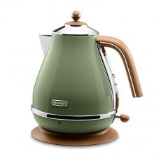 드롱기 전기포트 아이코나 빈티지 컬렉션 AC 100 V Delonghi Electric kettle 1.0L ICONA Vintage Collection KBOV1200J-GR Olive green