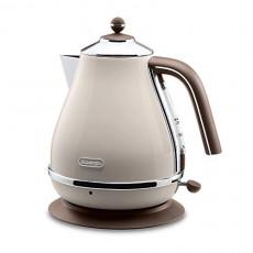 드롱기 전기포트 아이코나 빈티지 컬렉션 AC 100 V Delonghi Electric kettle 1.0L ICONA Vintage Collection KBOV1200J-BG Dolce Beige