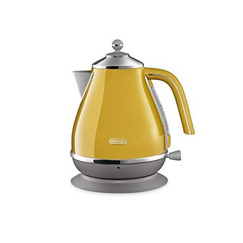 드롱기 전기포트 아이코나 캐피탈 뉴욕 옐로우 AC 100 V DeLonghi KBOC1200J-Y Electric kettle Icona Capitals New York yellow