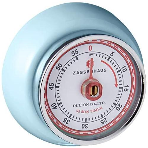 타이머 Zassenhaus 60-Minute Magnetic Steel &quotRetro Kitchen Timer Mint Green