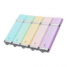 KOOTION 5PCS 8GB Enamel USB 2.0 Flash Drive Thumb Drives Memory Stick - 5 Colors Blue Green Pink Purple Yellow