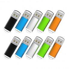 RAOYI 10Pack 4G USB Flash Drive USB 2.0 Memory Stick Memory Drive Pen Drive Blue