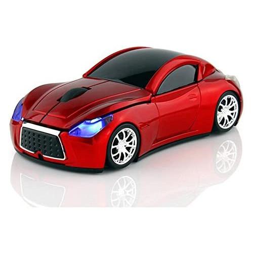 무선마우스 MGbeauty Sports Car Mouse Wireless Mouse Computer Mice Laptop Optical Gaming Mouse Red Red