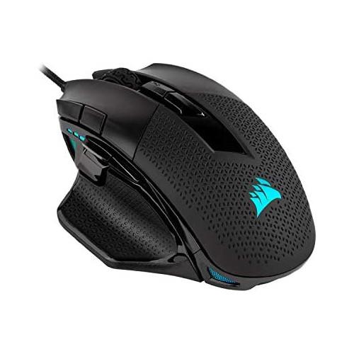 게이밍마우스 Corsair Nightsword RGB Performance Tunable FPS/MOBA Gaming Mouse Black Backlit RGB LED 18000 DPI Optical