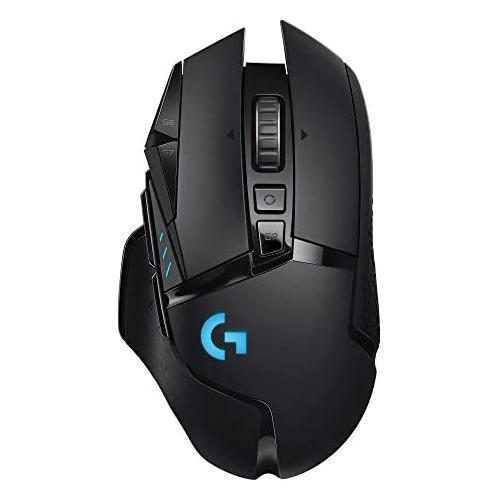 게이밍마우스 Logitech G502 LIGHTSPEED Wireless Gaming Mouse with HERO 16K Sensor PowerPlay Compatible Tunable Weights and Lightsync RGB