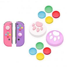 【Nintendo Switch 대응】아날로그 스틱 커버+방향 키 캡 JoyCon전용 방향 키 커버 스틱 보호 커버 묘고기구 어시스트 캡 방향 키 커버 10 개세트 동물의 숲(블루/그린A)