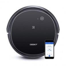 로봇청소기 Ecovacs DEEBOT 500 Robot Vacuum Cleaner with Max Power Suction Up to 110 min Runtime Hard Floors and Carpets Pet Hair App Controls Self-Charging Quiet Large Black