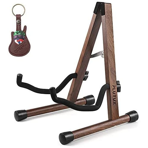 Wooden Guitar Stand Acoustic Guitar Stand Floor, Electric Guitar Stand, Bass Guitar Stand for Cello/Mandolin/Banjo/Ukulele Stand with Black Walnut