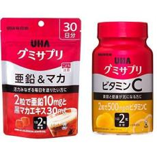 UHA구미(젤리) 사프리(supplement) 아연&《마카》 콜라 맛 파우치 20알 10일분