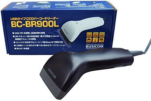 【BUSICOM】《비지코무》 1차원 바코드 리더USB접속(화이트) BC-BR900L-W