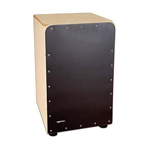 Amazon Basics Wooden Birch Cajon Percussion Box with Internal Guitar Strings - Natural