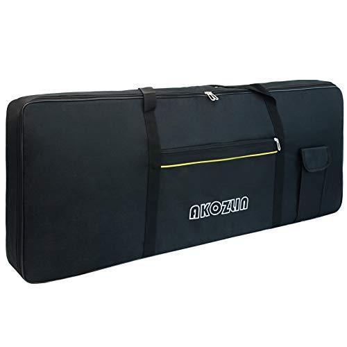 AKOZLIN 76 Keys Portable Padded Keyboard Case,Dimension 46x5.3x18, Electric Piano Keyboard Gig Bag