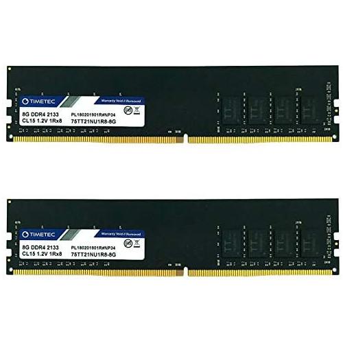 Timetec 16GB DDR4 2133MHz PC4-17000 Non-ECC Unbuffered 1.2V CL15 2Rx8 Dual Rank 288 Pin UDIMM Desktop PC Computer Memory RAM Module Upgrade (16GB)