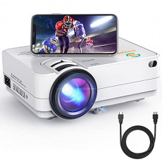 Wi-Fi Mini Projector 3Stone A5 4500 Lux Portable Movie Projector with 1080P Supported, Wireless Screen Mirroring, Blue-ray Glass Lens, Outdoor Multimedia Video Projector Support TV Stick, PC, PS4, AV