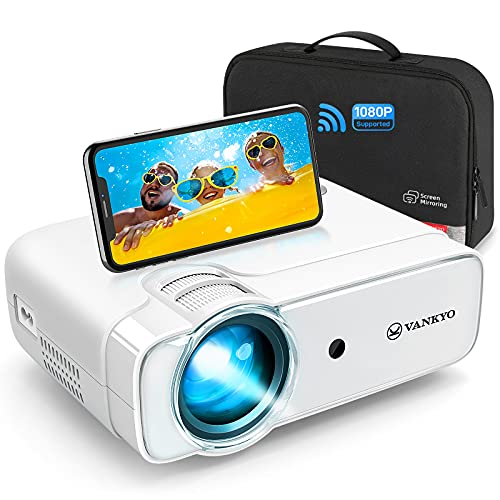 vankyo Mini Projector, WiFi Wireless Projector with Bag, Full HD 1080P Supported, 236 Display, Portable Projector Compatible with iOS/Android/Windows/TV Stick/PS5