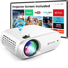 VANKYO Cinemango 100 WiFi Projector, Mini Projector for Outdoor Movies with 100 Projector Screen, 220 Display & 1080P Supported, 55,000 Hours LED Lamp Life, Compatible with HDMI/TV Stick/USB