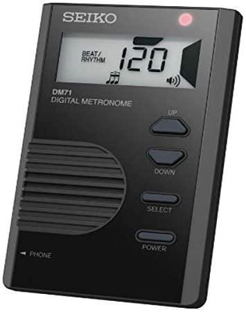 Seiko DM71B Pocket Size Digital Metronome - Black